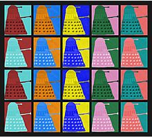 Pop art Daleks - variant 2 Photographic Print