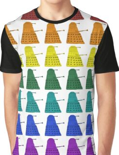 Rainbow march of Daleks Graphic T-Shirt
