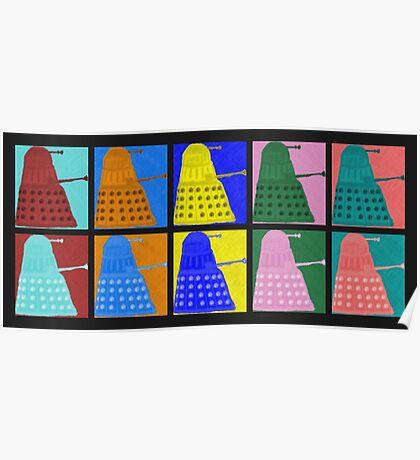 Pop art Daleks - variant 1 Poster