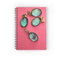 Mystical Mood Stones on a red background (Stimmungsstein) Spiral Notebook