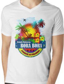Bora Bora Summer Beach Mens V-Neck T-Shirt