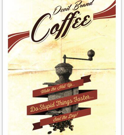 Devil Brand Coffee Sticker
