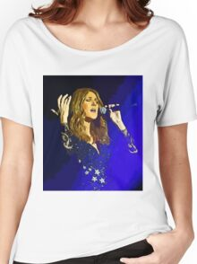 Moving and emotional portrait of Celine Dion Women's Relaxed Fit T-Shirt