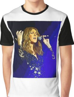 Moving and emotional portrait of Celine Dion Graphic T-Shirt