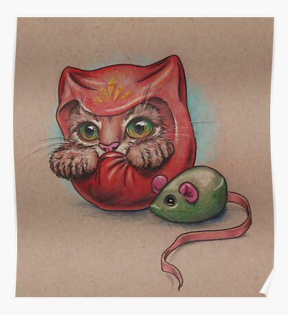 Daruma Cat  Poster