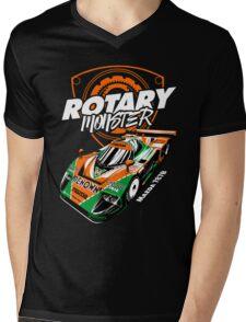 Rotary Monster Masda Mens V-Neck T-Shirt