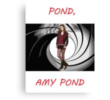 Pond, Amy Pond Canvas Print