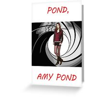 Pond, Amy Pond Greeting Card