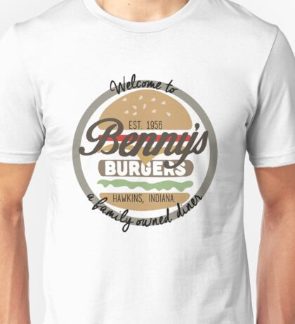 Bennys Burgers - Stranger Things Unisex T-Shirt