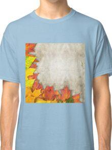 autumn leaves as a frame Classic T-Shirt
