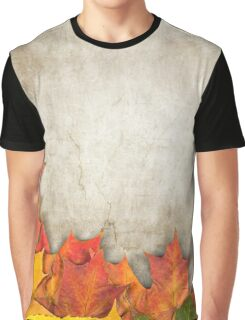 autumn leaves as a frame Graphic T-Shirt