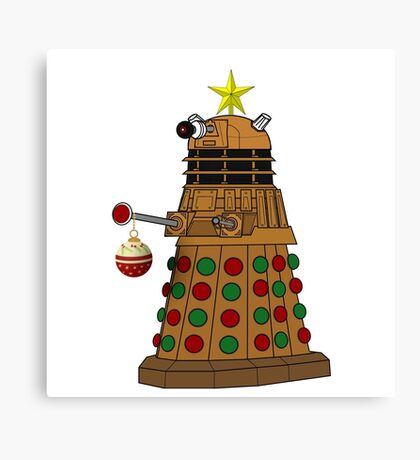 A Dalek Tree Canvas Print
