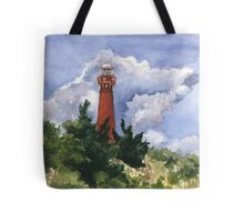 Barnegat Light in Watercolor Tote Bag