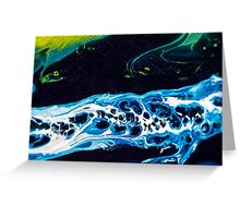 Beautiful Abstract Macro - Expressions Foam in the River Greeting Card