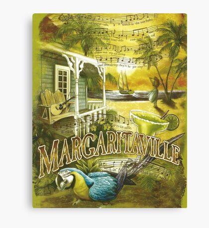 Margaritaville Poster Lyrics by Jimmy Buffett Canvas Print