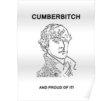 Cumberbitch and proud of it! Poster
