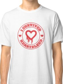 I Survived Heartbleed Classic T-Shirt