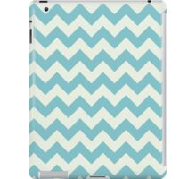 Blue retro Chevron pattern  iPad Case/Skin