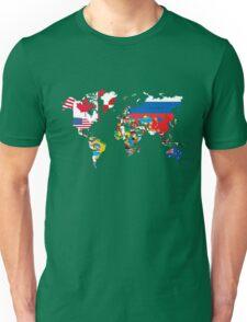 Traveler World Map Flags  Unisex T-Shirt