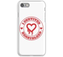I Survived Heartbleed iPhone Case/Skin