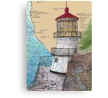 Pt Reyes Lighthouse Cathy Peek CA Nautical Chart Map Canvas Print