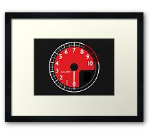 Red Enzo's RPM Framed Print