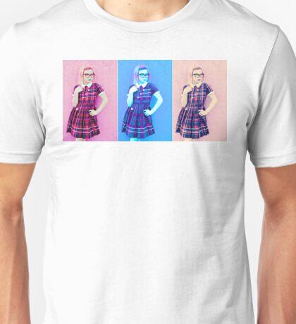 Pretty In Pink & Blue Unisex T-Shirt