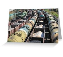 transportation of oil products by rail Greeting Card