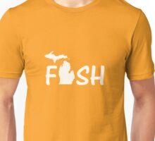 Fish Michigan Lake Fisherman Unisex T-Shirt