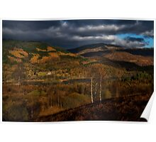 Fall scenery at The Trossachs National Park Poster