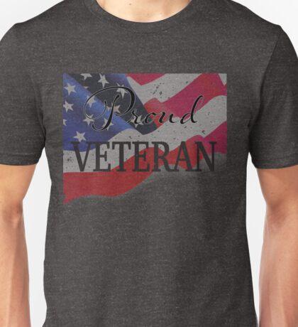 Proud Veteran american flag distressed Unisex T-Shirt