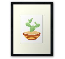 Simple Cactus digital vector design  Framed Print