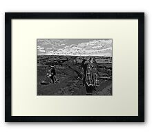 Stand with Standing Rock Black and White Framed Print