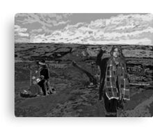 Stand with Standing Rock Black and White Canvas Print