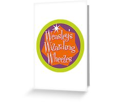 Weasley's Wizarding Wheezes logo Greeting Card