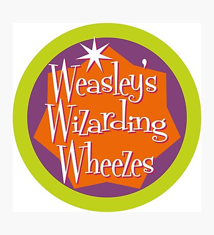 Weasley's Wizarding Wheezes logo Photographic Print