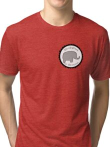 TJLC the elephant in the room patch Tri-blend T-Shirt