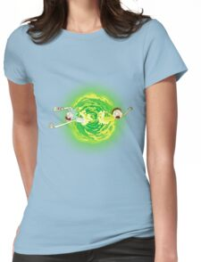 Rick and morty portal Womens Fitted T-Shirt