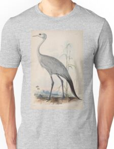 Gleanings from the menagerie and aviary at Knowsley Hall Edward Lear John Gray 1850 008 Stanley Crane Unisex T-Shirt