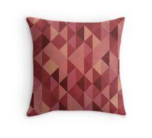 Mosaic 1493 - Pantone Marsala Triangles Throw Pillow