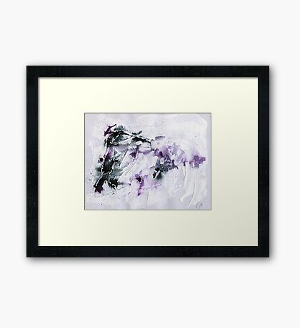 black and purple abstract Framed Print