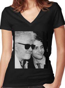 ALMODOVAR X DOLAN portrait Women's Fitted V-Neck T-Shirt