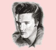 Elvis in black and white One Piece - Short Sleeve