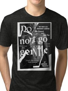 Iggy Pop Do Not Go gentle Lumiere Theatre Tri-blend T-Shirt