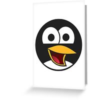 Linux Angry Tux Greeting Card