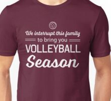 We interrupt this family to bring you Volleyball season Unisex T-Shirt