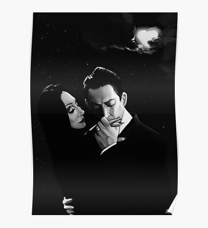 Gomez and Morticia Addams Poster