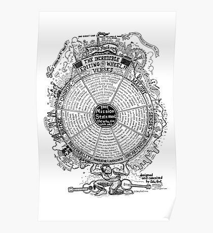 The Incredible Editing Wheel by Ellis Paul Poster