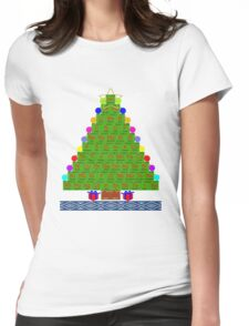 Ugly Christmas Sweater Shirt Chemistree Science Periodic Table Womens Fitted T-Shirt