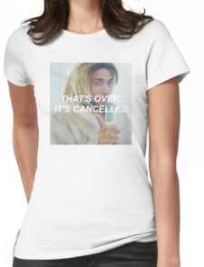 that's over, it's cancelled Womens Fitted T-Shirt